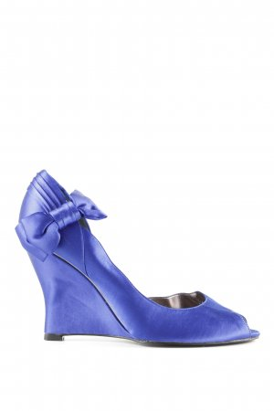 Nina New York Peeptoe Pumps blau Elegant