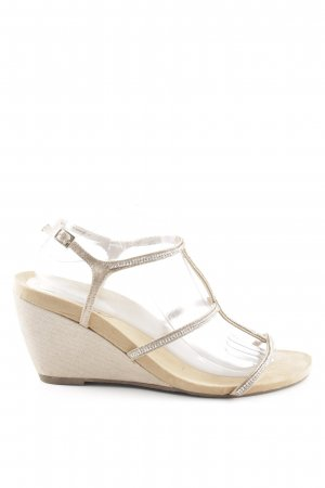 Nina New York Wedges Sandaletten silberfarben-wollweiß Casual-Look