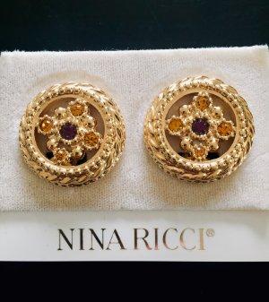 Nina ricci Pendientes de clip multicolor metal