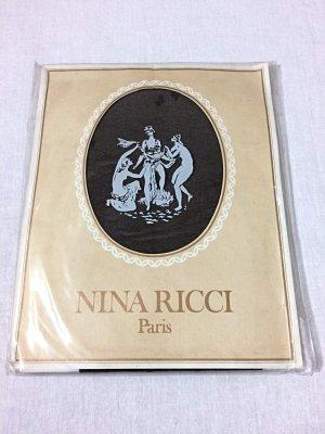 Nina Ricci Paris Strumpfhose Feinstrumpfhose schwarz Struktur neu und OVP
