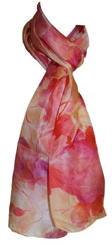 Nina Ricci Seidenschal, floral, 100% Seide, 65 x 180 cm ❤️ Neu mit Etikett