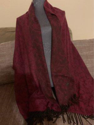 Nina ricci Bufanda de flecos carmín-negro