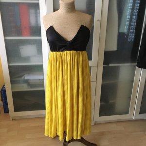 Nina Ricci Vintage Kleid Bandeau gelb schwarz