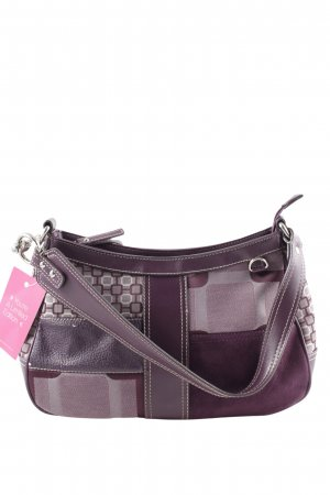 Nine west Henkeltasche lila abstraktes Muster Casual-Look