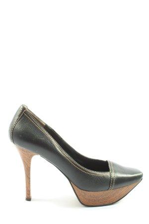 Nine west High Heels black-brown striped pattern business style