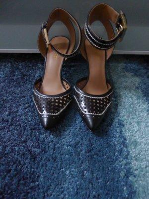Nine west High Heels black-white leather