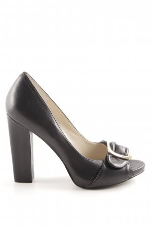Nine west Peeptoe Pumps schwarz Business-Look