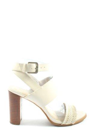 Nine west Platform High-Heeled Sandal natural white elegant