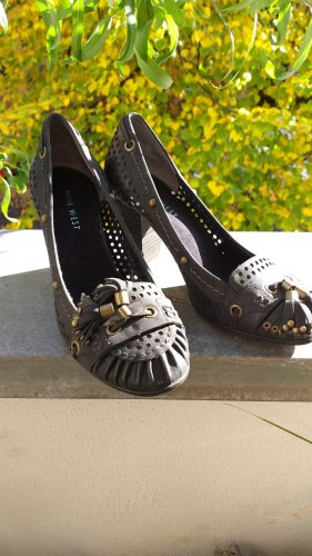 Nine west Loafers zwart-donkerblauw Leer