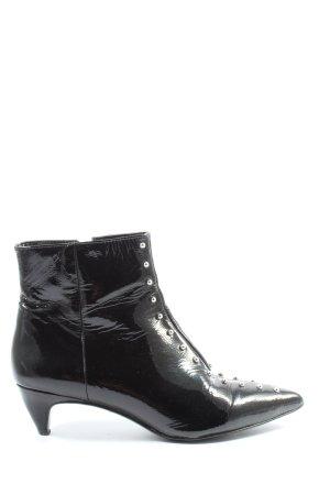 Nine west Reißverschluss-Stiefeletten schwarz-silberfarben extravaganter Stil