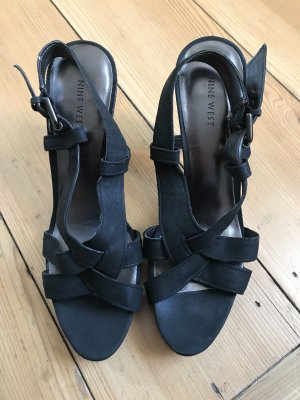 Nine west Sandaletto con tacco alto nero-antracite
