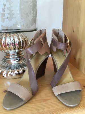 Nine West Sandals, creme/taupe/braun