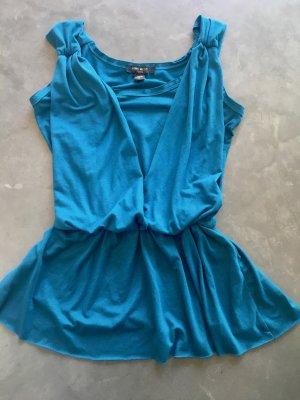 Nine West Schulterfreie Fließende Top / Bluse (USA Designermarke) Sehr schick, feminin, modern, Slimming & schmeichelhafte Passform, ideal für den Sommer!  NP $70