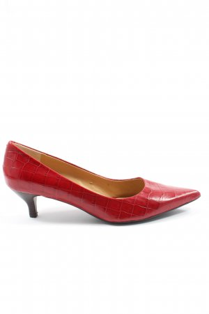 Nine west Pointed Toe Pumps red allover print casual look