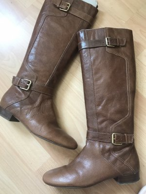 Nine west Fur Boots brown leather
