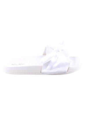 Nio Nio Komfort-Sandalen weiß Casual-Look