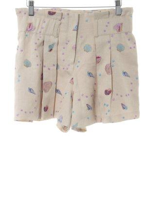 Nishe High-Waist-Shorts abstraktes Muster Beach-Look