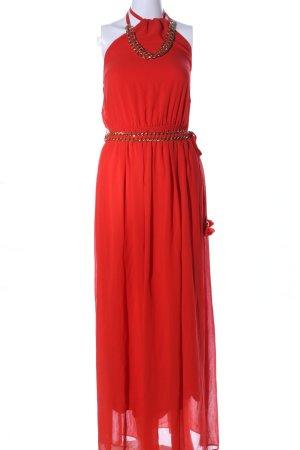 NISSA Vestido de cuello Halter rojo elegante