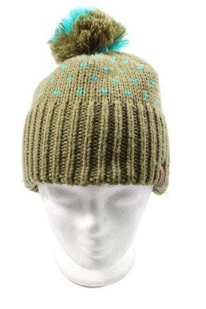 Nitro Cappello a maglia cachi punto treccia stile casual