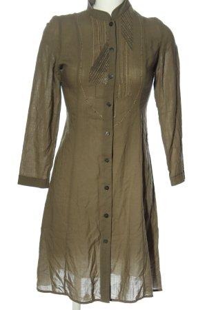 Nitya Koszulowa sukienka khaki W stylu casual