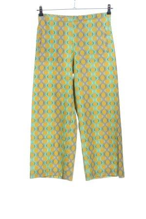 NIU' Luźne spodnie bladożółty-zielony Graficzny wzór W stylu casual