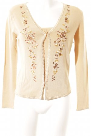 NIVOO young fashion Web Twin Set creme florales Muster Casual-Look