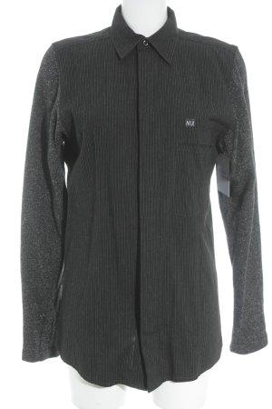 NIX Langarm-Bluse schwarz-dunkelgrau Casual-Look