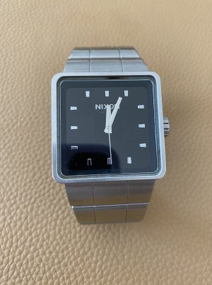 Nixon Montre automatique argenté-gris clair tissu mixte