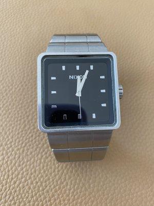 Nixon Orologio automatico argento-grigio chiaro Tessuto misto