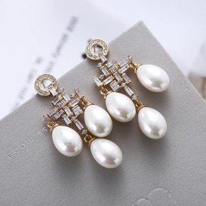 Pessina-Jewelry Pendientes de oro blanco-color oro