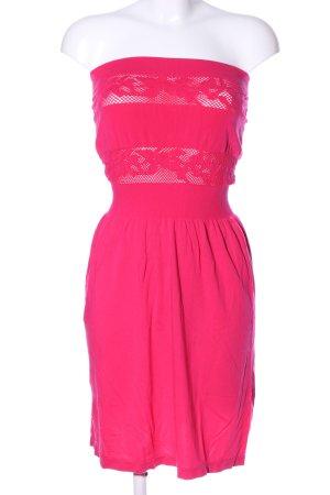 NKD Bandeau Dress pink casual look