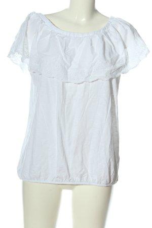 NKD Blouse Carmen blanc style décontracté