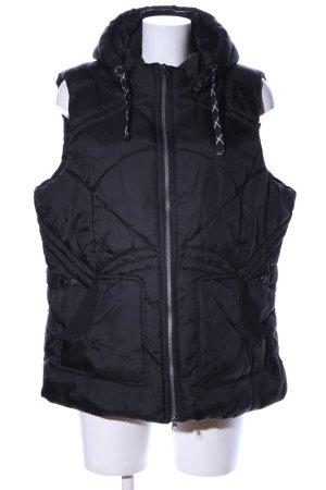 NKD Chaleco con capucha negro estampado acolchado look casual