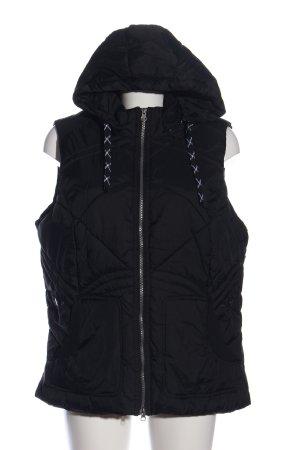NKD Hooded Vest black quilting pattern casual look