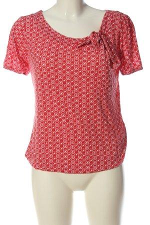 NKD Camicia fantasia rosso-bianco motivo astratto stile casual