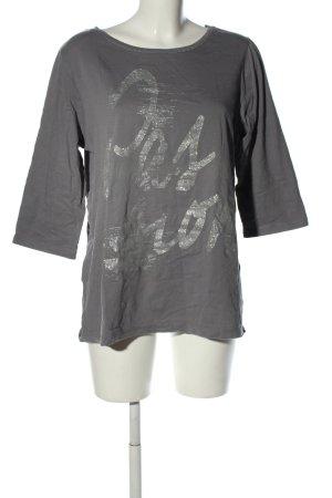 NKD Camicia fantasia grigio chiaro caratteri stampati stile casual