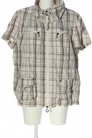 NKD Veste chemise crème-brun motif à carreaux style décontracté