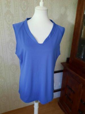 NKD Koszulka sportowa stalowy niebieski Poliester