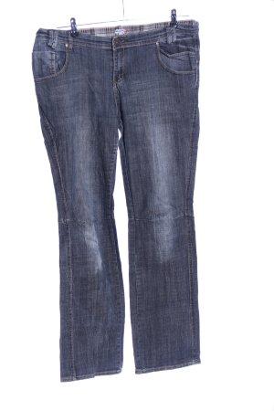 NKD Straight-Leg Jeans blau-hellgrau meliert Casual-Look