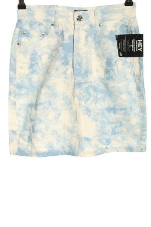 NLY Gonna di jeans bianco-blu motivo astratto stile casual