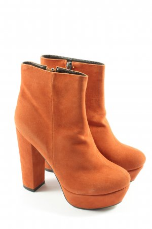 Nelly Wedge Booties light orange casual look