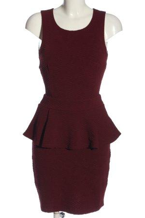 NLY One Sukienka z baskinką czerwony Elegancki