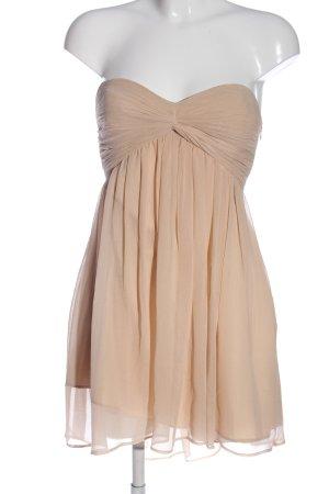 NLY Trend Sukienka bez ramiączek kremowy Elegancki