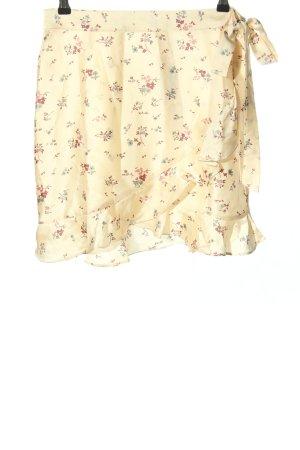 NLY Trend Jupe à volants blanc cassé-rouge motif de fleur style décontracté