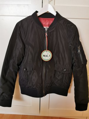 No. 1 Como Reversible Jacket black-dark red