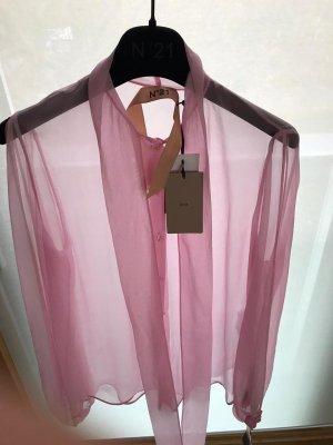 No. 21 Silk Chiffon Bluse Shirt Designer top
