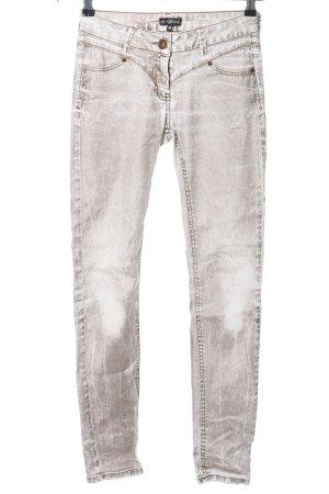NO EXCUSES Jeans skinny gris clair-blanc gradient de couleur style décontracté