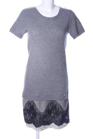 No-Na Vestito di lana grigio chiaro-nero stile casual