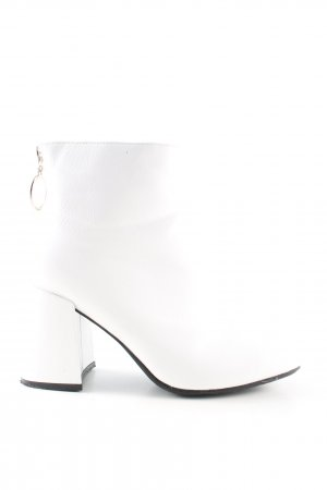 no name Ankle Boots white business style