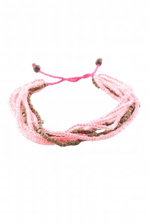no name Armband pink-braun Elegant